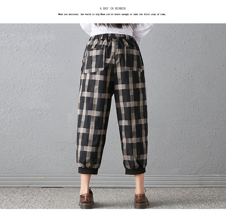 New 2018 Spring And Autumn Artistic Vintage Trousers Women Harlan Pants Woman Pants Loose Linen Pants For Women Plus Size Women 12
