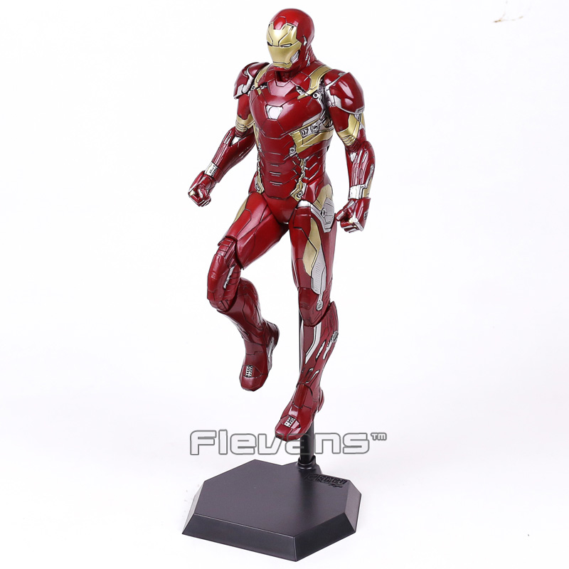 Crazy Toys Iron Man MARK XLVI MK 46 1/6 Scale PVC Painted Figure Collectible Model Toy 38cm 1 6 scale 30cm the avengers captain america civil war iron man mark xlv mk 45 resin starue action figure collectible model toy