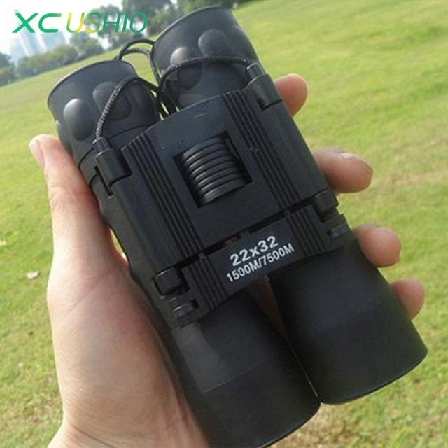 Upgraded Portable Folding Binocular Telescope High Clarity Optical Green Film Coated Wide Angle Binoculars for Watching Sports