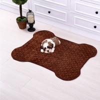 Weiche Stoff Pet Matten für Kleine Hunde Alle Jahreszeiten Einfache Reinigung Hund Decken Katze Schläft Bett Kissen Blau Braun Beige