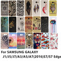Impresión colorida suave de silicona tpu case cover para samsung galaxy a3 a5 J1 J5 J7 2016 Nxt Mini J105 A310 G930 A7 S7 Borde G935