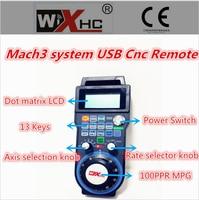 2016 Version Wireless Manual Pulse Generator USB 4 axis remote control Mach3 CNC Milling Machine