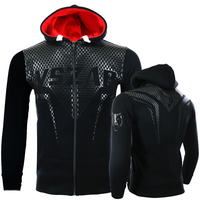 VSZAP MMA Hoodie Hoodies Coat Sweatshirt Long Sleeve Hooded Sporting Kickboxing Combat Stitching Printed Fish Plus