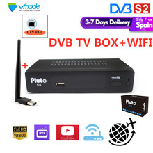 DVB S2 in Satelliet TV ontvanger + USB WIFI met LAN RJ45 Ondersteuning FULL hd AVS + Hebben Youtube cccam Dolby Bisskey set top boxes(China)