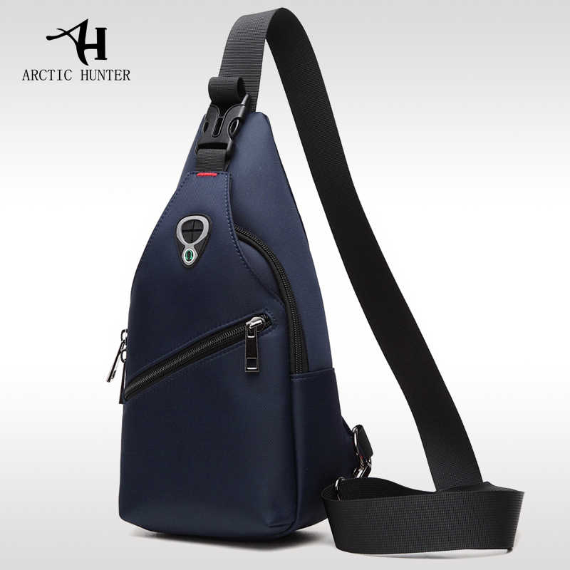 ARCTIC HUNTER New Male Chest Bag Fashion Leisure Waterproof Man Oxford Cloth Korea Style Messenger Shoulder Bag For Teenager Bag