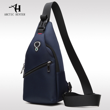 ARCTIC HUNTER New Male Chest Bag Fashion Leisure Waterproof Man Oxford Cloth Korea Style Messenger Shoulder Bag For Teenager Bag