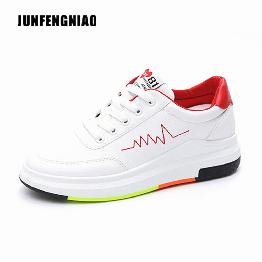 New Fashion Women White Shoes Flats Platform Student Female Korean Soft Casual Rubber Lace Up PU Leather Joker Superstar KS-508 2017 new women shoes genuine leather casual shoes flats breathable lace up soft fashion brand shoes comfortable round toe white