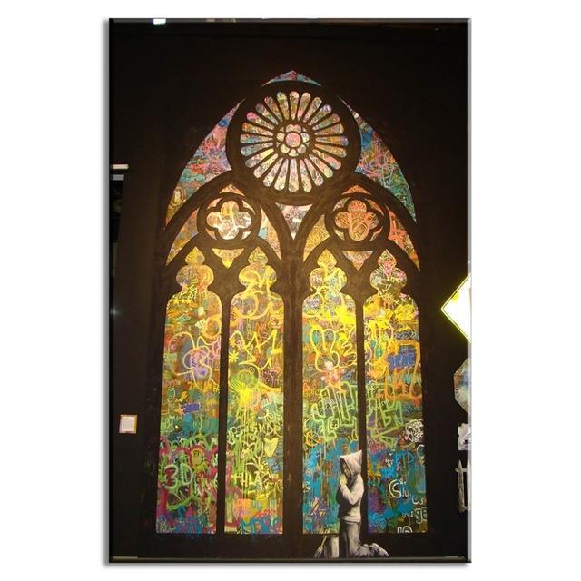 Banksy Art Pray In Church Living Room Wall Art Home Decorative ...