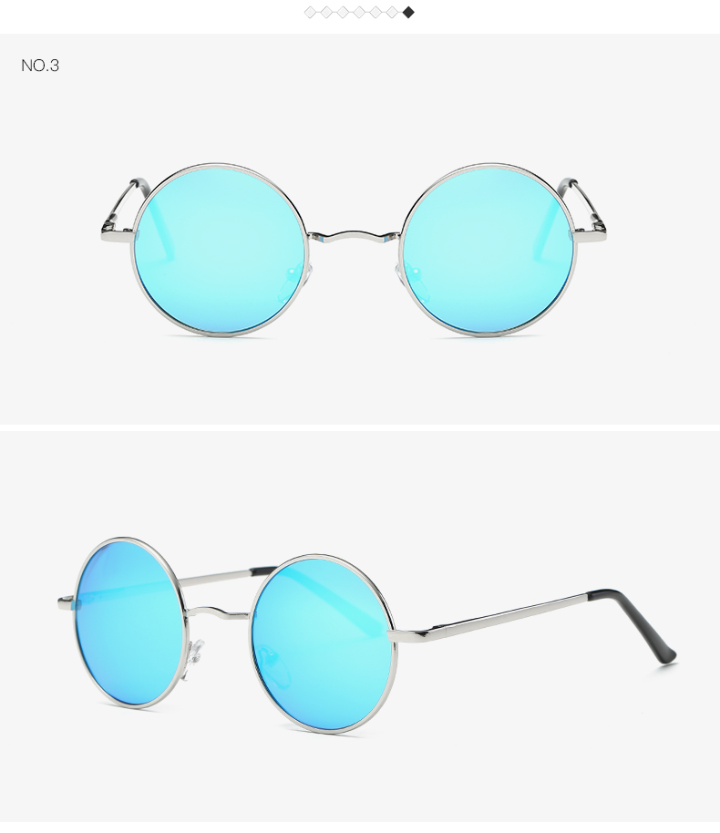 AEVOGUE Polarized Sunglasses For Men/Women نظارات شمسية للرجال وللسيدات بعدسات دائرية بلورايزد 7