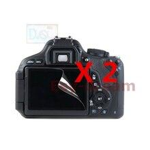 2 шт. Высокое качество ЖК-дисплей экран пленка протектор для Canon EOS 1200D 1300D 1500D 2000D Rebel T5 T6 T7 Kiss X70 X80 X90