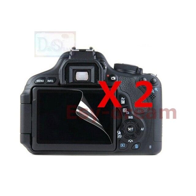 2 pcs Alta Qualidade da Tela Lcd Filme Protetor para Canon Rebel EOS 1200D 1300D 1500D 2000D T5 T6 T7 beijo X70 X80 X90