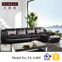 Import Furniture From China Living Room Furniture Sleeper Couch L Shape Sectional Sofa Corner Sofa Leather