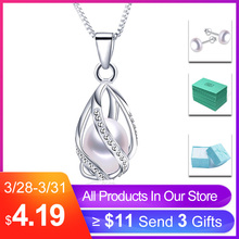 38e0f4ae98155c Classic Special Design 8-9mm Natural Pearl Cage Pendant Necklace with 45cm  Silver Chain 4