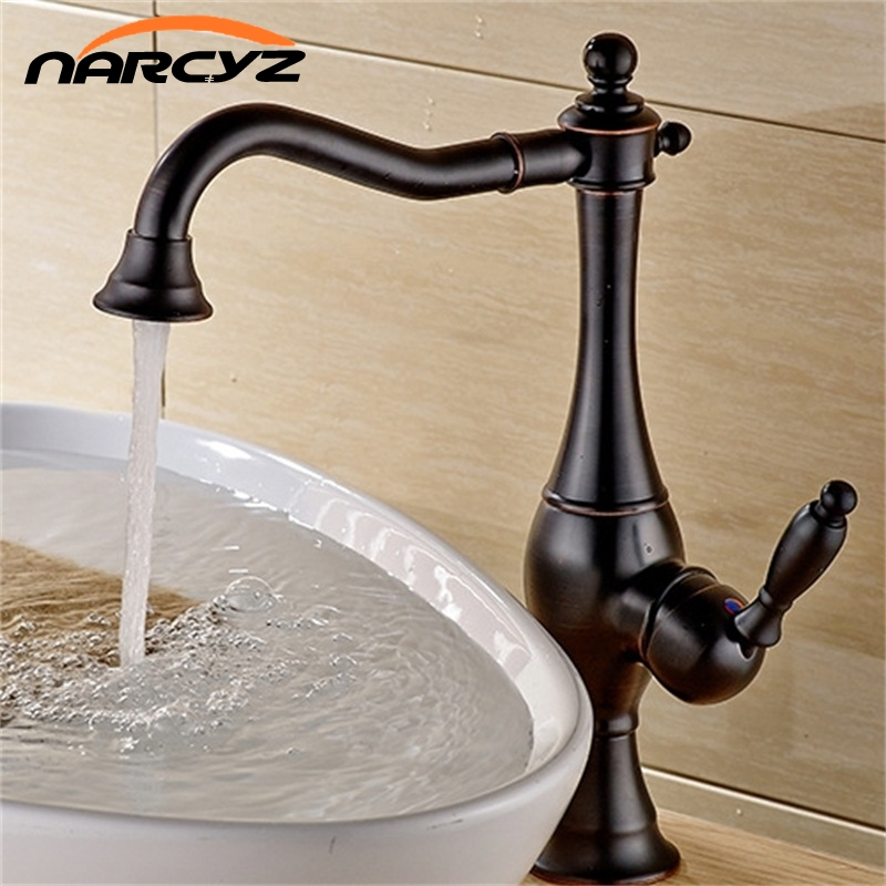 ORB Black kitchen faucet Blackened kitchen sink mixer tap ORB oil brushed black crane faucet sink Mixer Tap bathroom XT-47 цена
