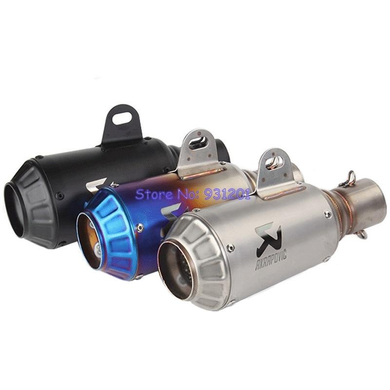 Muffler Exhaust-Pipe CBR150 Inlet Motorbike 51mm Universal Akrapovic Z1000 for CBR500R