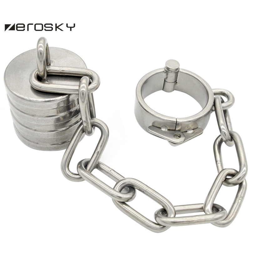 Zerosky Stainless Steel Testicle Scrotum Ball Stretcher Ball Weight Male Penis Ring Cock Penis Exercise Sex Toys for Men stainless steel penis cock ring testicle ball scrotum stretcher bdsm bondage gear play male chastity devices sex toys