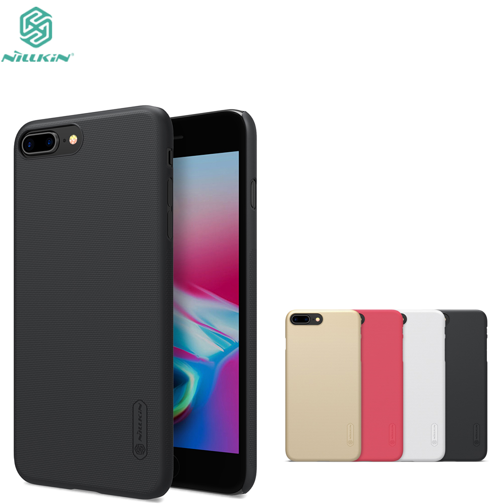 For Apple iPhone 7 iphone8 Case NILLKIN Super Frosted Shield hard back cover case For Apple iPhone 8 plus with screen protector