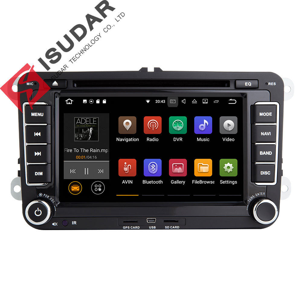 Wholesales! Android 7.1.1 7 Inch Car DVD Player For VW/Golf/Tiguan/Skoda/Fabia/Rapid/Seat/Leon/Skoda CANBUS Wifi GPS Radio joyous 8 hd capacitive android 4 2 stereo car dvd player w gps navi for vw passat seat skoda