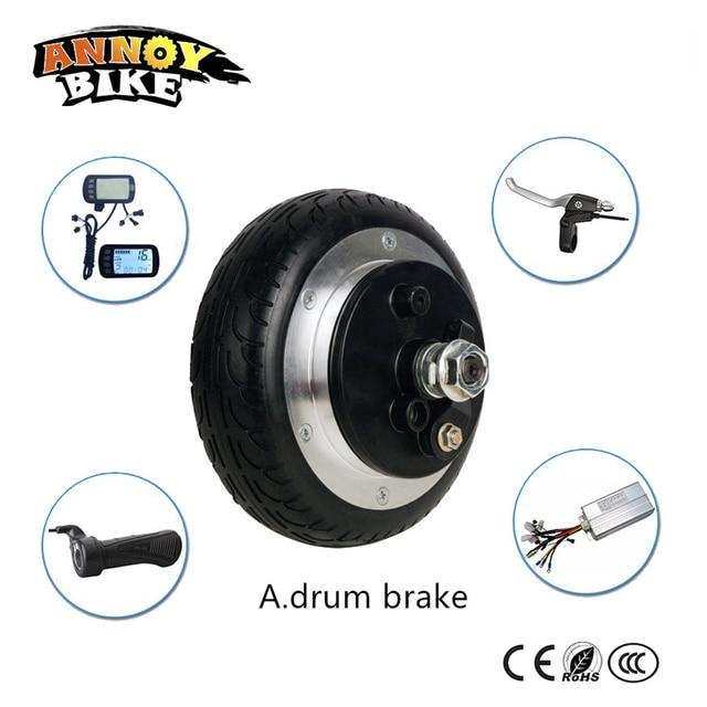 6 Inch Hub Motor Gearless Electric Bike Wheel 24v 200 350w