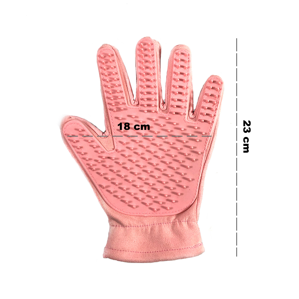Cute Suede Silicone Pet Grooming Gloves for Hair Cleaning of Dogs and Pets Useful of Combing and Extra Hair Cleaning of Pets Body 5