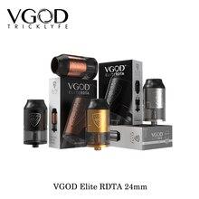 100% Original VGOD Elite RDTA 24mm Diameter Electronic Cigarettes Rebuildable Dripping Atomizer 4ml tank capacity 2017 New Vape