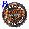 35cm Harley Motor Cycles Round Bottle Cap Tin Signs Art Wall Decor House Cafe Bar Vintage Metal Signs