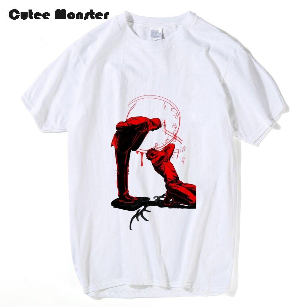 TV series Hannibal T shirt Men American Crime Thriller Film Blood Deer Printed T-shirt Male Short Sleeve 100% Cotton Top Tees