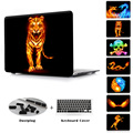 Fire Animals Series Dragons & Tiger New Hard Plastic Case For Macbook Pro 13 15 Air 11 13 New Retina 12 13 15 Sleeve Bag Cover