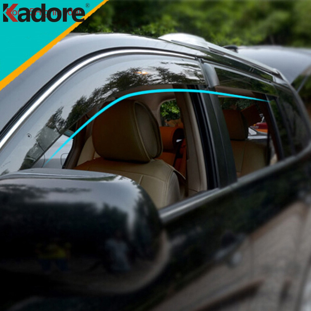 Fit For Toyota Highlander 2014 2015 4pcs Car Window Awnings Deflectors Car Sun Rain Guard Windows Visors Trim Deflector Shield for highlander trim a