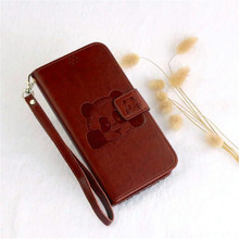 Panda fashion High Quality Wallet PU Leather Case For Huawei P10 Lite P9 Lite P8 Lite Cover Shell Card Holder Flip Leather Phone