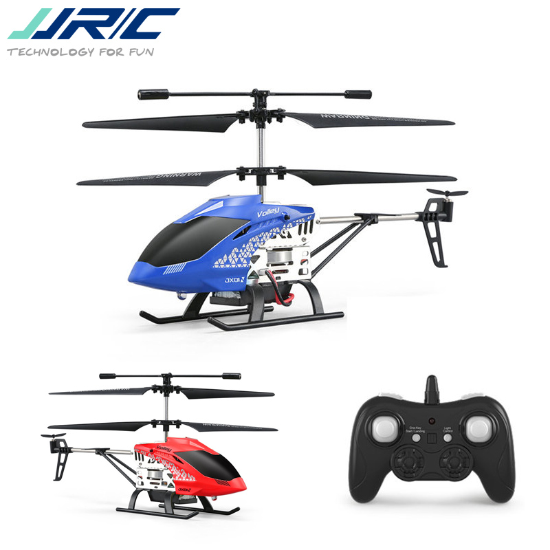 цена на In Stock JJRC JX01 2.4G 3.5CH 6-Axis Gyro With Altitude Hold Alloy RC Helicopter For Kids Children Gift Present Blue Red