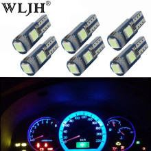 WLJH 6x Canbus 12 v T5 LED Light 3030 SMD Miniatuur 74 Lamp Auto Dashboard Instrument Panel Gloeilamp voor LADA Niva 1984-1993(China)