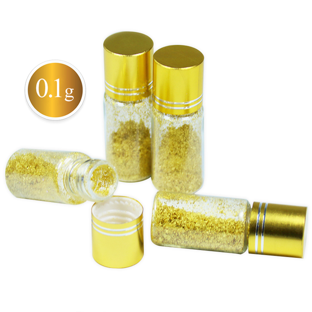 01g 24K Edible Pure Genuine Gold Powder Foil Food DecorationCakes And