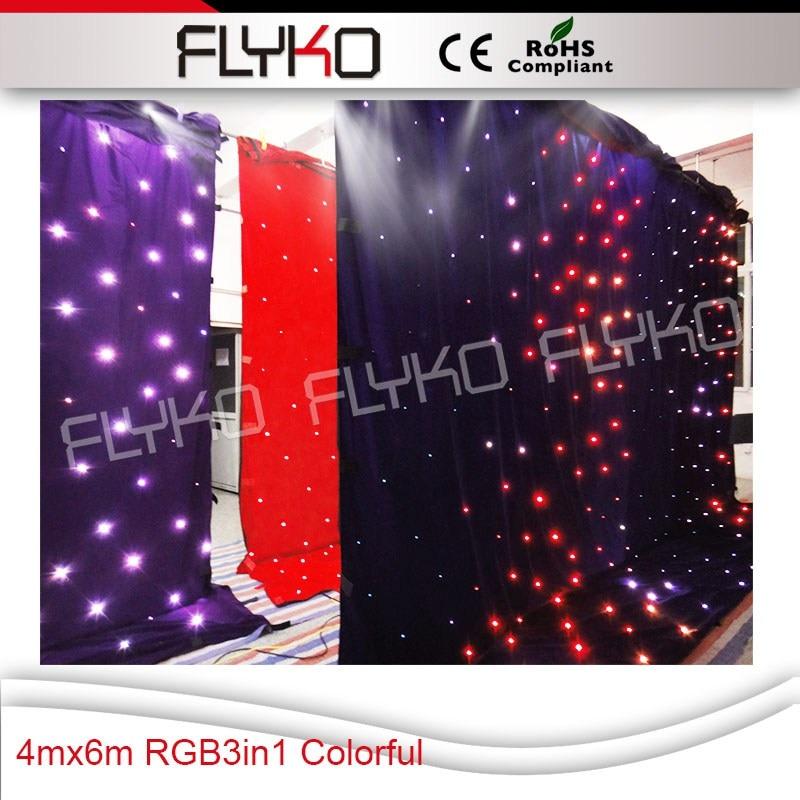 Flyko stage LEDs DMX Led star curtain/disco sound light backdrops