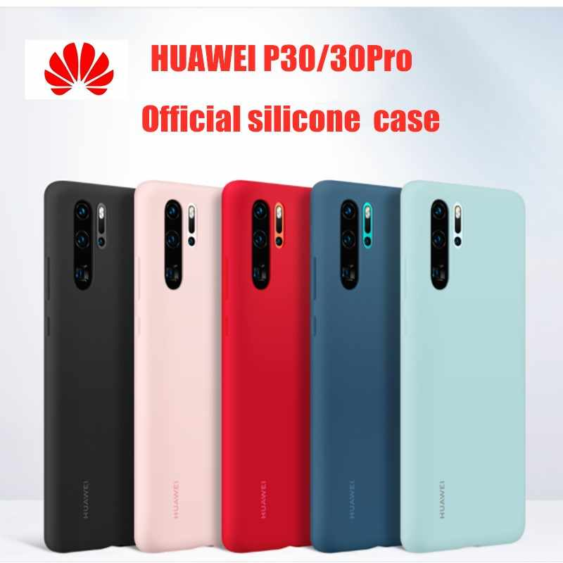 Huawei P30 Pro Case 100% Original From HUAWEI Official Liquid Silicone Protective Cover Microfiber Insided Huawei P 30 P 30Pro