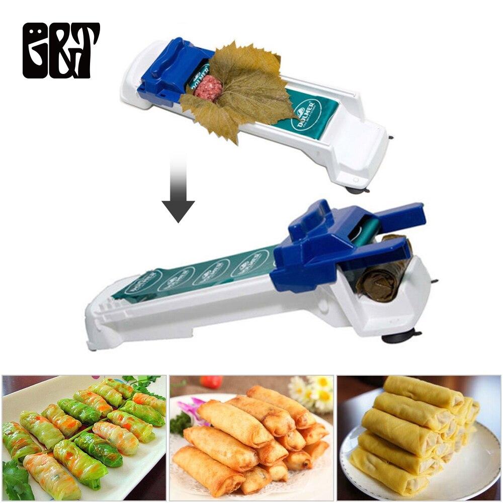 Gemüse Fleisch Roll Werkzeuge Dolmer Kohl Blatt Dolmer Magic Roller Gefüllte Garpe Maschine Sushi Form Moedor De Carne Hotsale