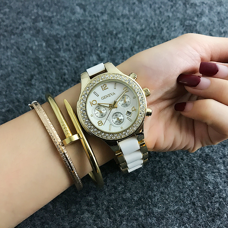 Top Brand Women Luxury Rose Guldklockor Ladies Quartz Armbandsur - Damklockor - Foto 1