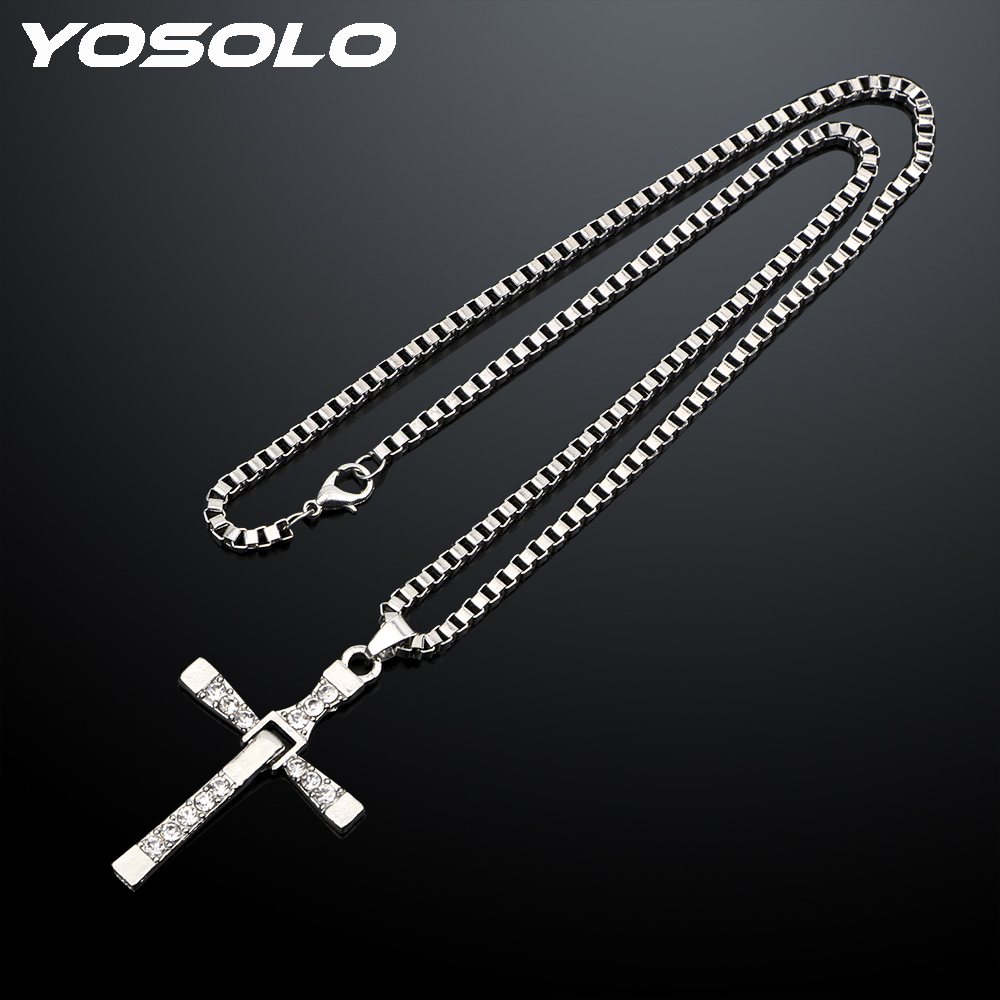 YOSOLO Christian Cross Alloy Auto Interior Accessories Decoration Car Pendant Car Rearview Mirror Hanging Ornaments Car-styling