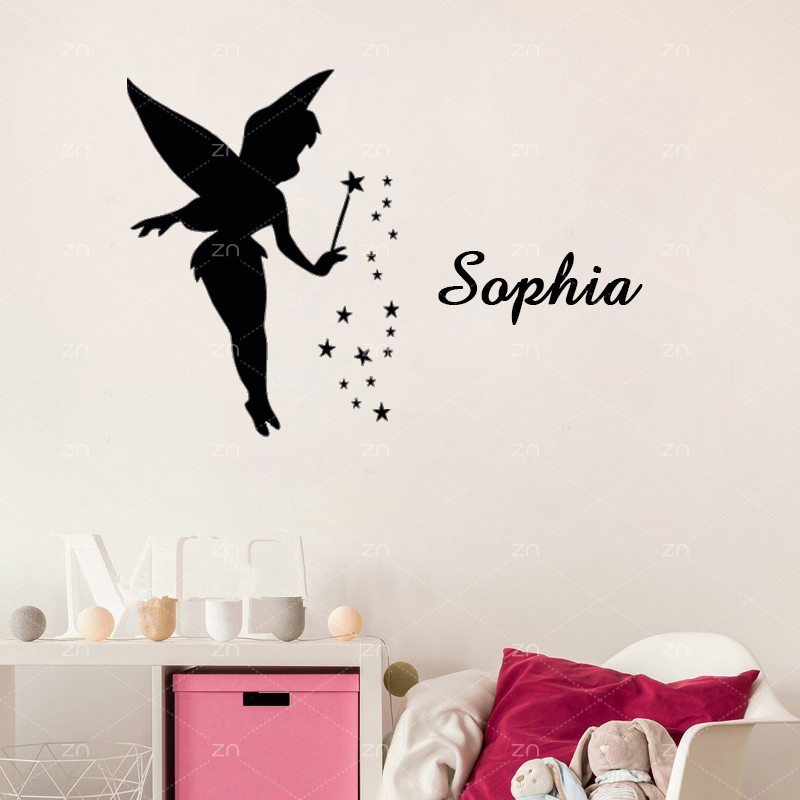 Aliexpress Buy Zn Angel Fairy Wall Stickers For Girls Room