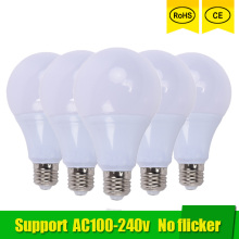 цена на 5pcs LED lamp E27 3W 5W 7W 9W 12W 15W SMD 2835 Real Power Led Light Bulb AC 220V 110V Cold Warm White Led ball bulb for home
