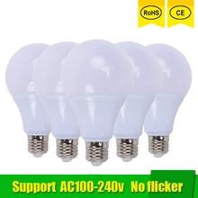 e27 6w 6500k 480 lumen 96 3528 smd led white light bulb ac 220 240v 5pcs LED lamp E27 3W 6W 9W 12W 18W 21W SMD 2835 Real Power Led Light Bulb AC 220V 110V Cold Warm White Led ball bulb for home