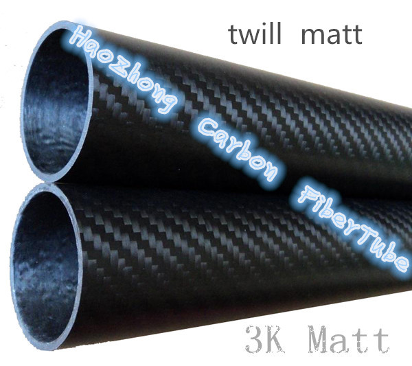 1 6pcs 25MM OD x 21MM ID x1000MM 100 3k Carbon Fiber tube Tubing pipe shaft