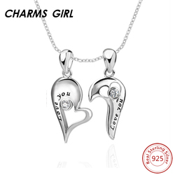 Charms girl heart shape pendant necklace 925 sterling silver couple pendant necklace women fine jewelry silver.jpg 250x250