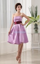 free shipping 2014 new design brides maid dresses short high quality sexy purple real dress picture Bridesmaid Dresses