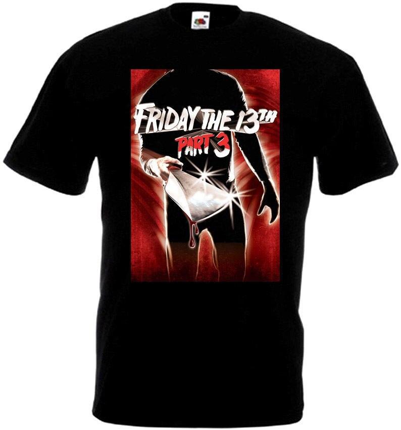 Friday The 13 v36 T-Shirt all sizes S-5XL BLACK