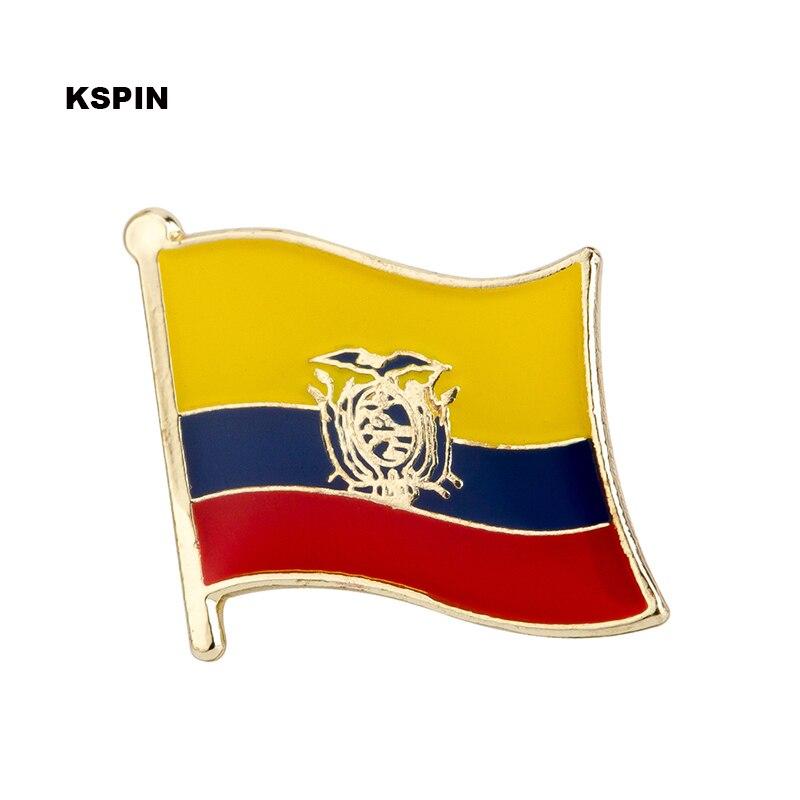 Ecuador bandiera pin distintivo spilla 100pcs un lotto Spilla Icone KS 0055-in Spille da Casa e giardino su  Gruppo 1