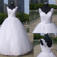 Balo elbisesi spagetti sapanlar beyaz fildişi tül gelinlik 2020 İnciler gelin elbise evlilik müşteri yapılmış boyutu