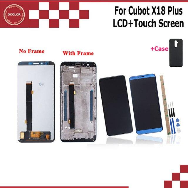 Ocolor cubot X18 プラス lcd ディスプレイとタッチスクリーン + フレーム 5.99 + ツール + 接着剤 cubot x18 プラス電話 + シリコンケース