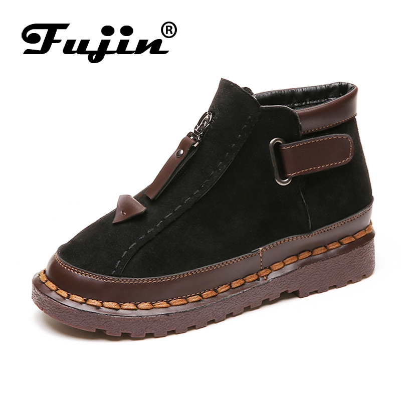 Fujin Brand 2019 Fashion Women Ankle Boots Autumn Winter