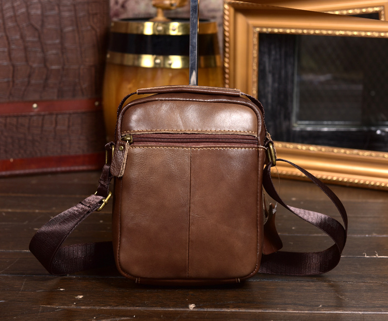 HUANILAI Men Genuine Leather Bags For Men Shoulder Messenger Bags Phone Bags Multifunction Cowhide Handbags DD02 in Crossbody Bags from Luggage Bags